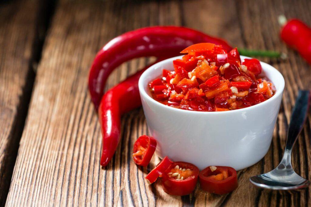 Eingekochte Chilis