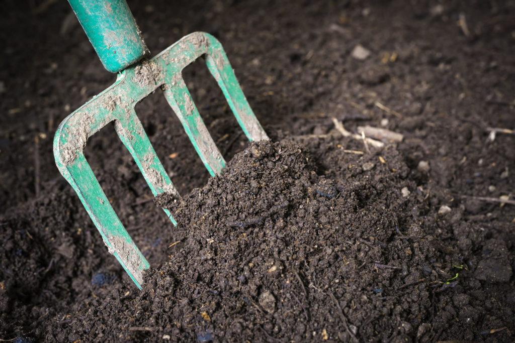 MIstgabel Komposterde umgrabend