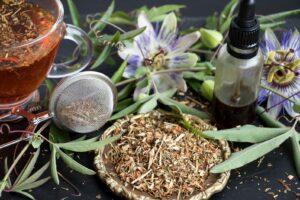 Getrocknetes Passionsblumen-Kraut Als Tee