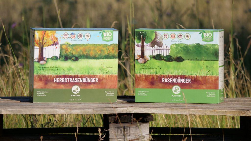 Unser Plantura Bio-Rasendünger und Bio-Herbstrasendünger