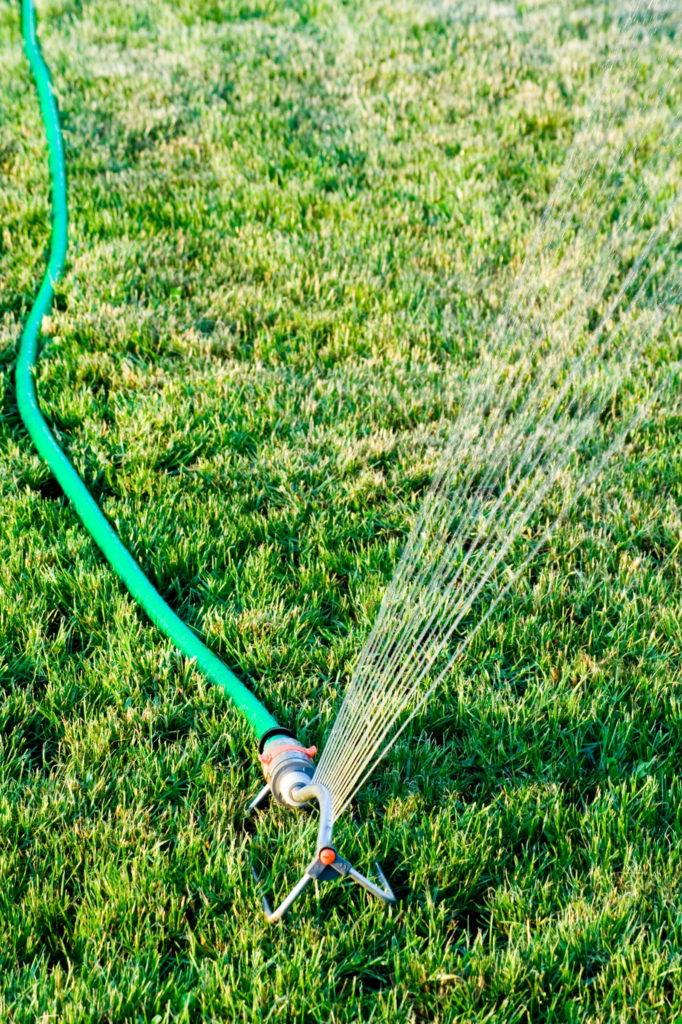 Rasen wir mit einer professionellen Bewässerung gegossen