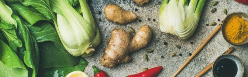 Asiatisches Gemüse Und Gewürze