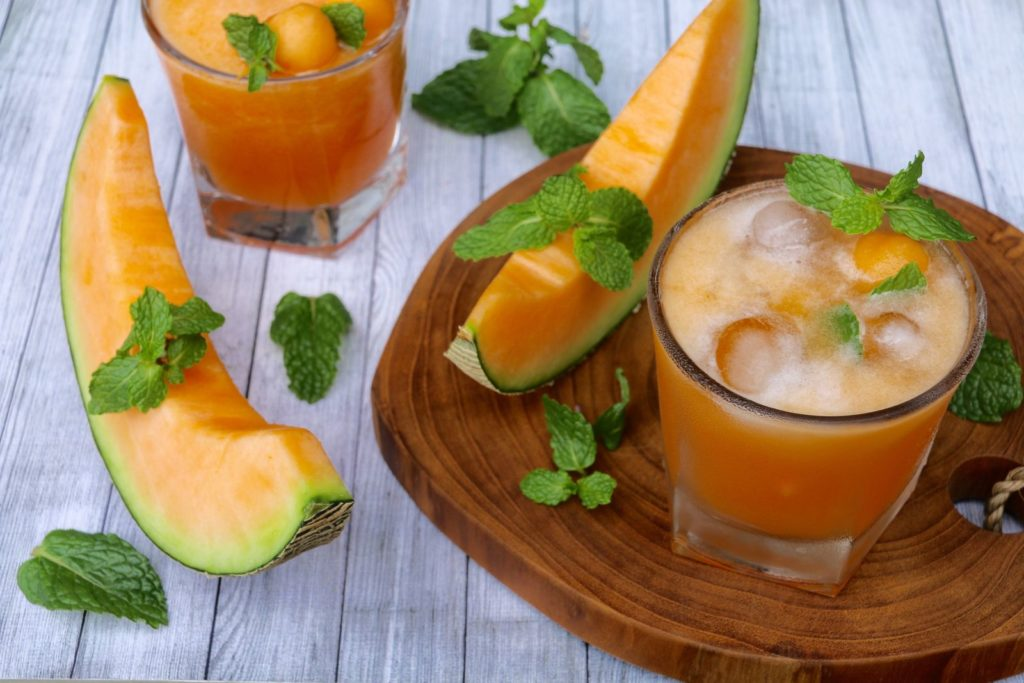 Cantaloupe-Melone in der Bowle