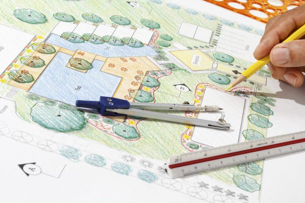 Plan zur Gartengestaltung