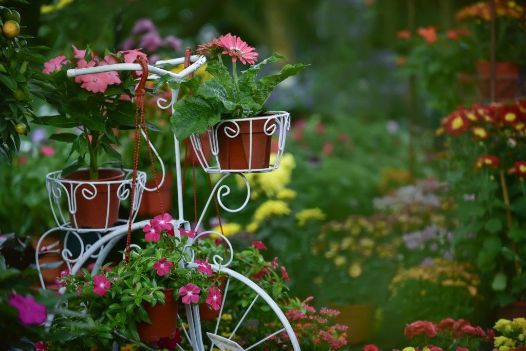 Dekoration in kleinem Garten