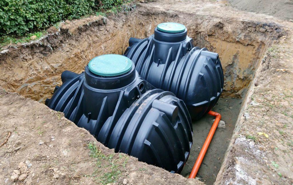 Unterirdische Wassertanks