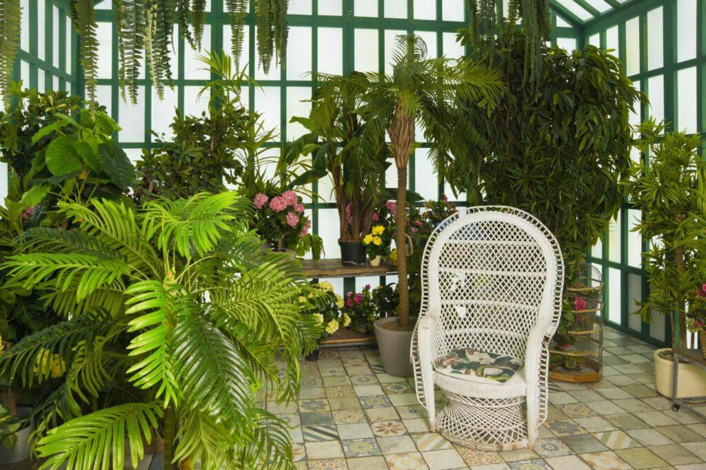Wintergarten mit Pflanzen