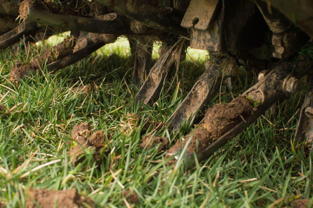 Rasen von Gerät gelüftet