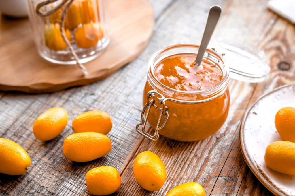 Kumquat-Marmelade im Glas