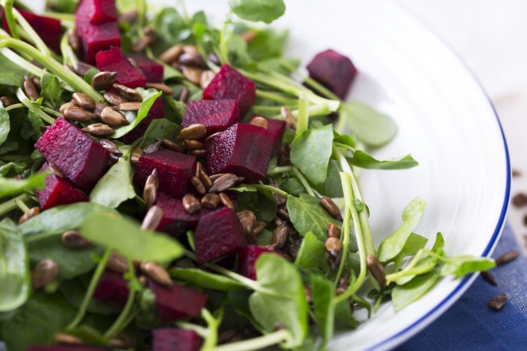 Salat mit Brunnenkresse