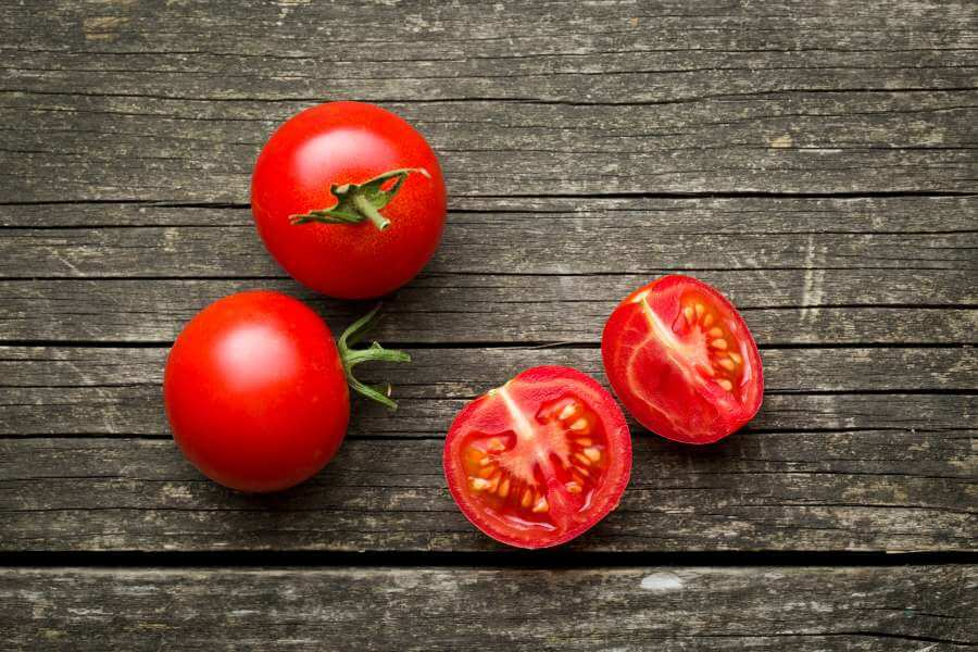Tomatensorte Matina geerntet