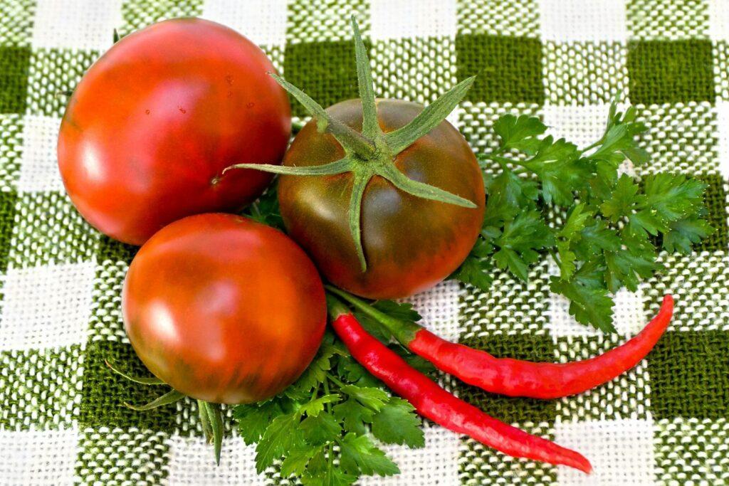 Tomaten der Sorte Schwarzer Prinz