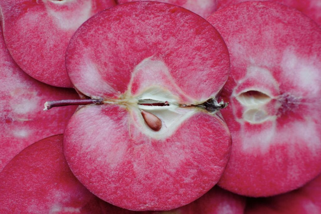 aufgeschnittener Baya-Marisa-Apfel