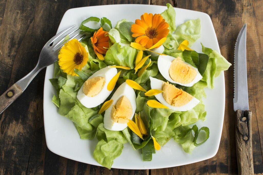 Ringelblumen im Salat