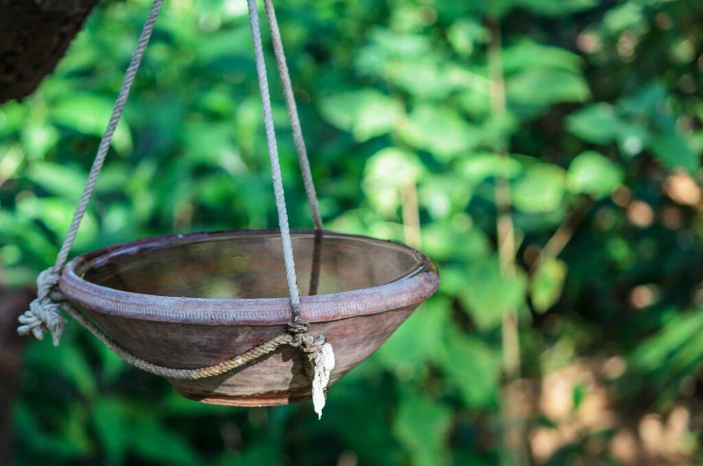 hängende Vogeltränke
