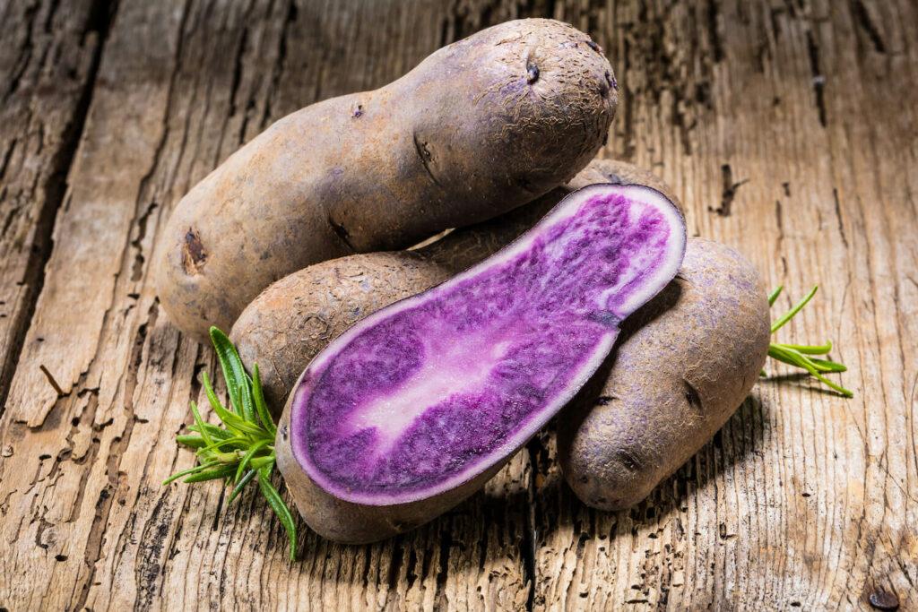 violette Kartoffeln