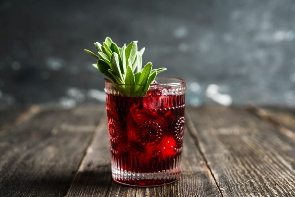 sweet old-fashioned Cocktail mit Gin