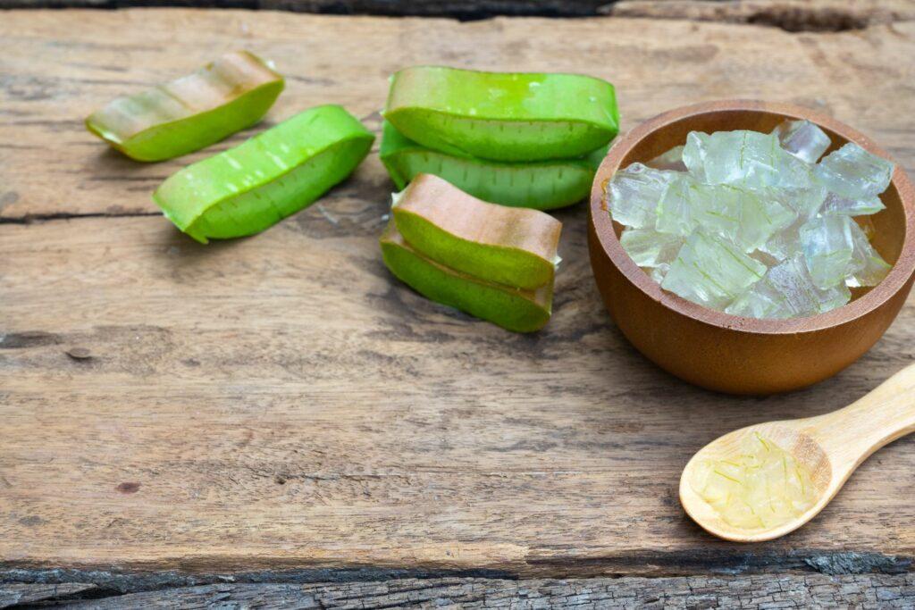 Aloe vera-Stammscheiben