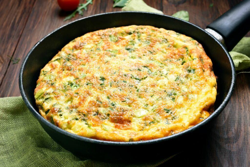 Omelett mit Käsekraut