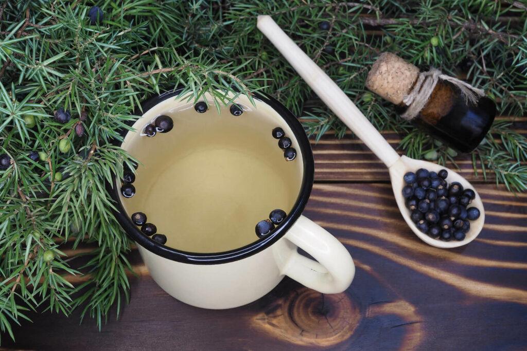 Tee aus Wacholder-Beeren