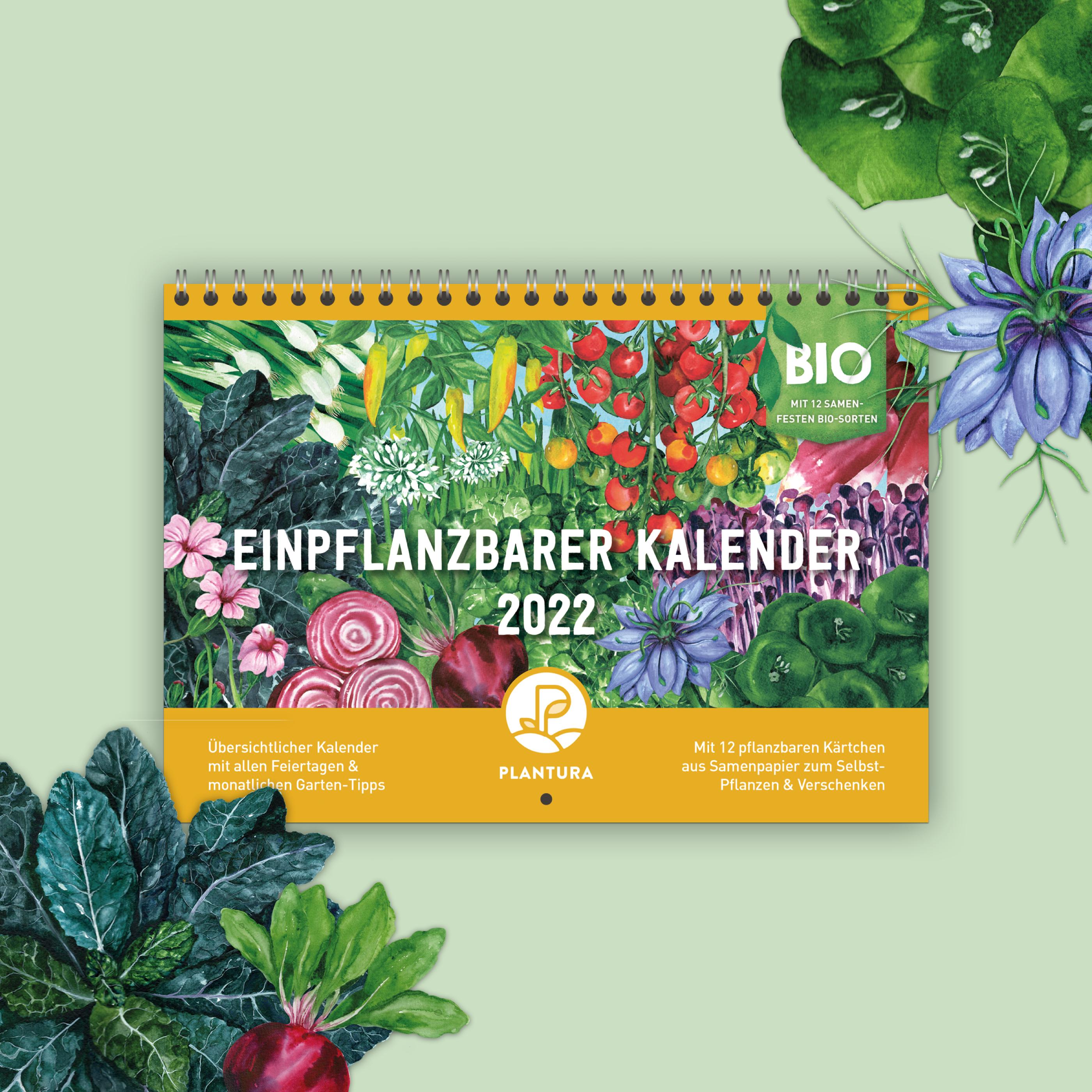 Einpflanzbarer Kalender 2022 von Plantura
